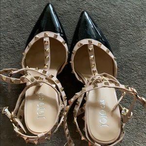 Studs heels triple wrap